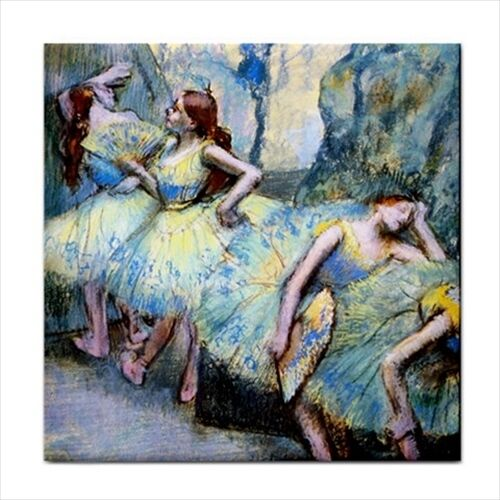 Ballet Dancers In The Wings Degas Art Decorative Ceramic Tile