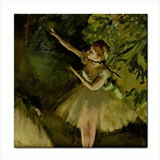 Ballet School Degas Art Detail Ceramic Tile