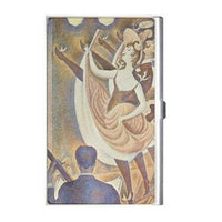 Can Can Dancers Seurat Art Business Credit Card Holder Case