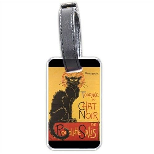 Chat Noir Black Cat Art Personalized Luggage Tag
