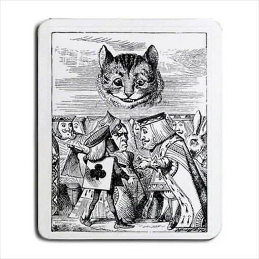 Alice In Wonderland Cheshire Cat Execution Computer Mouse Pad Mat