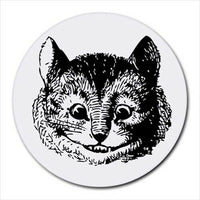 Cheshire Cat Face Alice In Wonderland Round Computer Mouse Pad