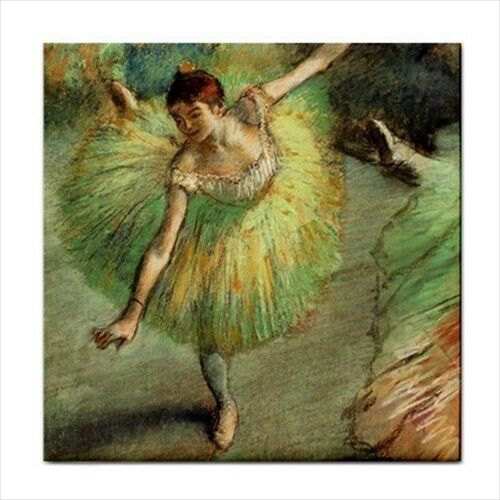 Dancer Tilting Ballet Ballerina Edgar Degas Art Decorative Ceramic Tile