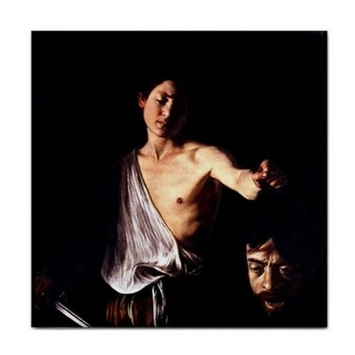 David with the Head of Goliath Caravaggio Art Ceramic Tile