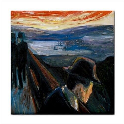 Despair Edvard Munch Expressionism Art Decorative Ceramic Tile