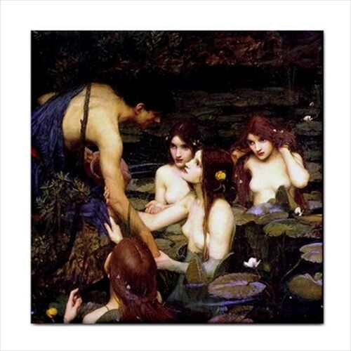 Hylas And The Nymphs John William Waterhouse Ceramic Tile