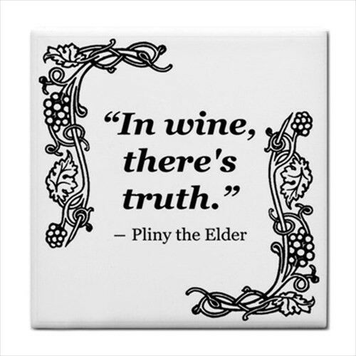 In Wine There's Truth Quote Decorative Kitchen Ceramic Tile