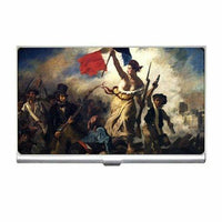 Liberty Leading The People Delacroix Art Business Credit Card Case Holder