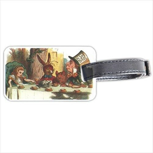 Alice In Wonderland Mad Hatter Tea Party Personalized Luggage Tag