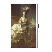 Queen Marie Antoinette Of France Court Dress Art Business Credit Card Holder Case