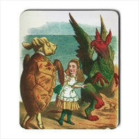 Mock Turtle Alice In Wonderland Color Art Computer Mouse Pad Mat