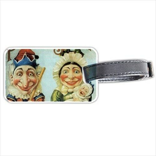 Punch and Judy Puppets Art Personalized Luggage Tag