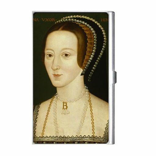 Queen Anne Boleyn Royalty Art Business Credit Card Holder