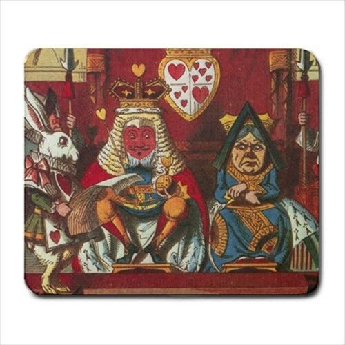 Queen Of Hearts Court Alice In Wonderland Color Art Computer Mouse Pad Mat