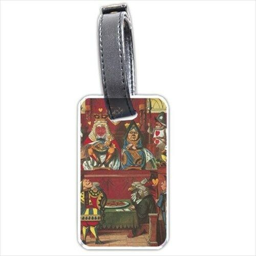 Queen Of Hearts Alice In Wonderland Art Personalized Luggage Tag