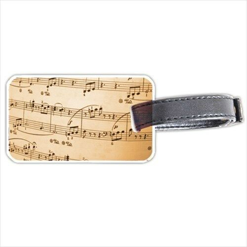 Sheet Music Musical Notes Score Personalized Luggage Tag