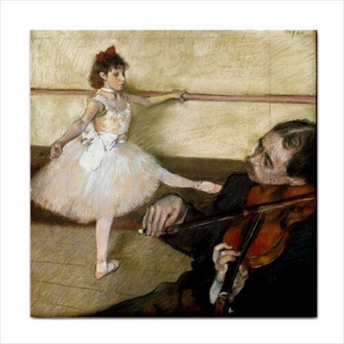 The Dance Lesson Degas Ballet Art Decorative Ceramic Tile