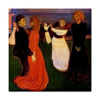 The Dance Of Life Edvard Munch Art Ceramic Tile