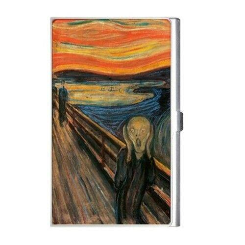 The Scream Edvard Munch Art Business Credit Card Case Holder