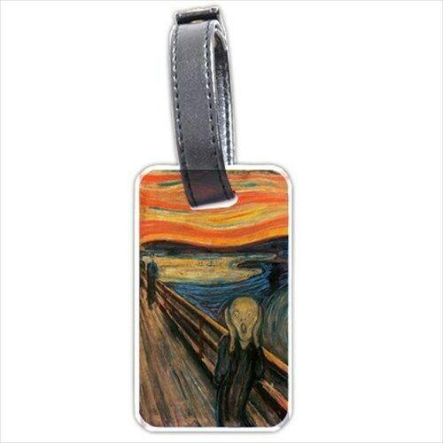 The Scream Edvard Munch Art Personalized Luggage Tag