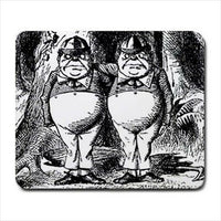 Tweedle Dee Dum Alice In Wonderland Computer Mouse Pad