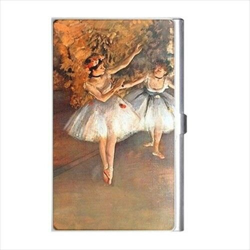 Two Dancers On Stage Degas Ballet Art Business Credit Card Holder Case