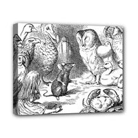 Alice In Wonderland Birds Canvas Art Print 8 by 10 Inches