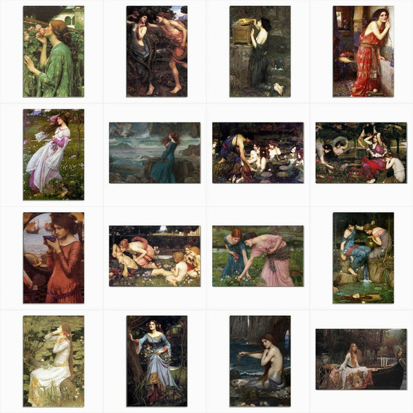 John William Waterhouse Art Set Of 16 Postcard Prints