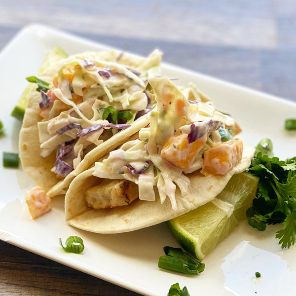 Grilled Chicken Taco with Mango Slaw