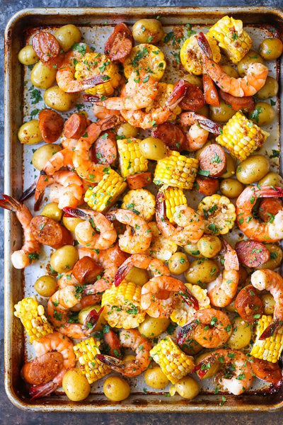 Summer Sheet Pan Shrimp Boil
