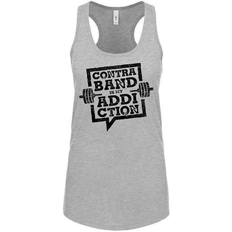 Contraband Sports 10179 Contraband is My Addiction Womens Racerback Tank Top