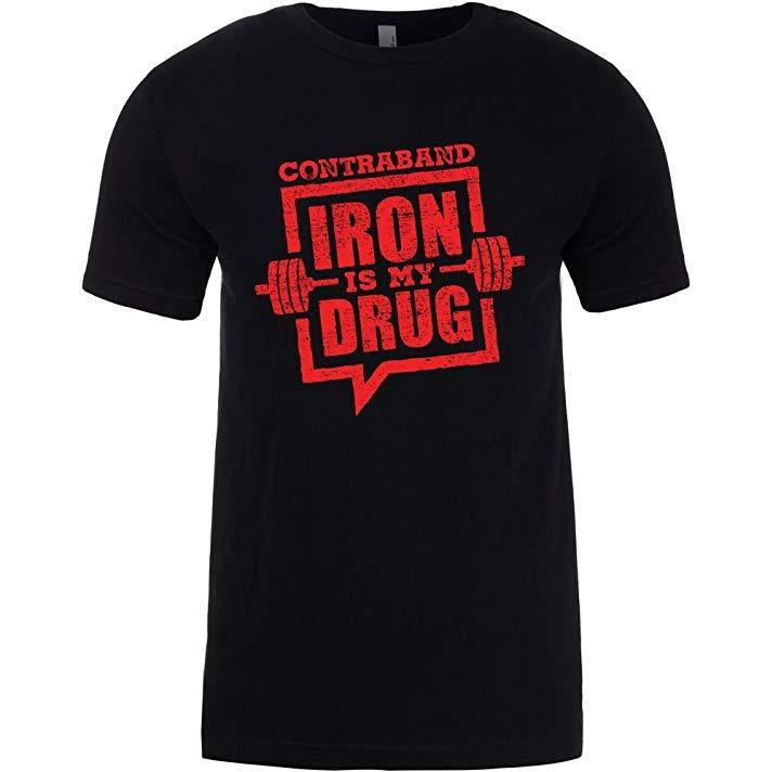 Contraband Sports 10109 Iron is My Drug Mens/Unisex T-Shirt
