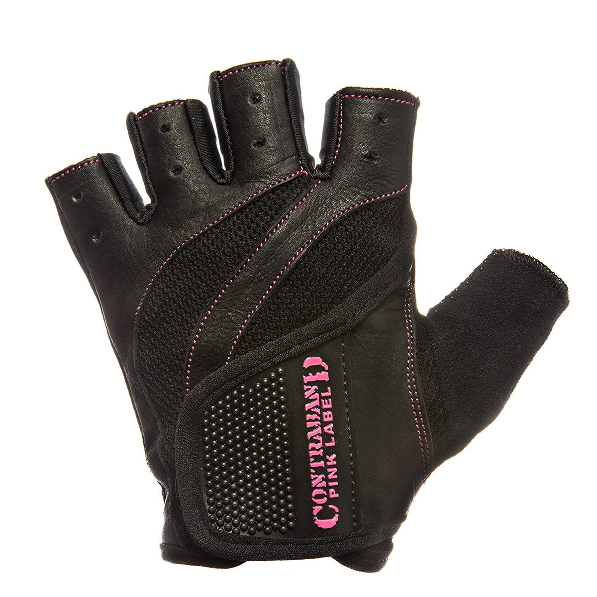Contraband Pink Label 5437 Womens Extreme Grip Weight Lifting Gloves w/Heavy Rubber Padded Palm