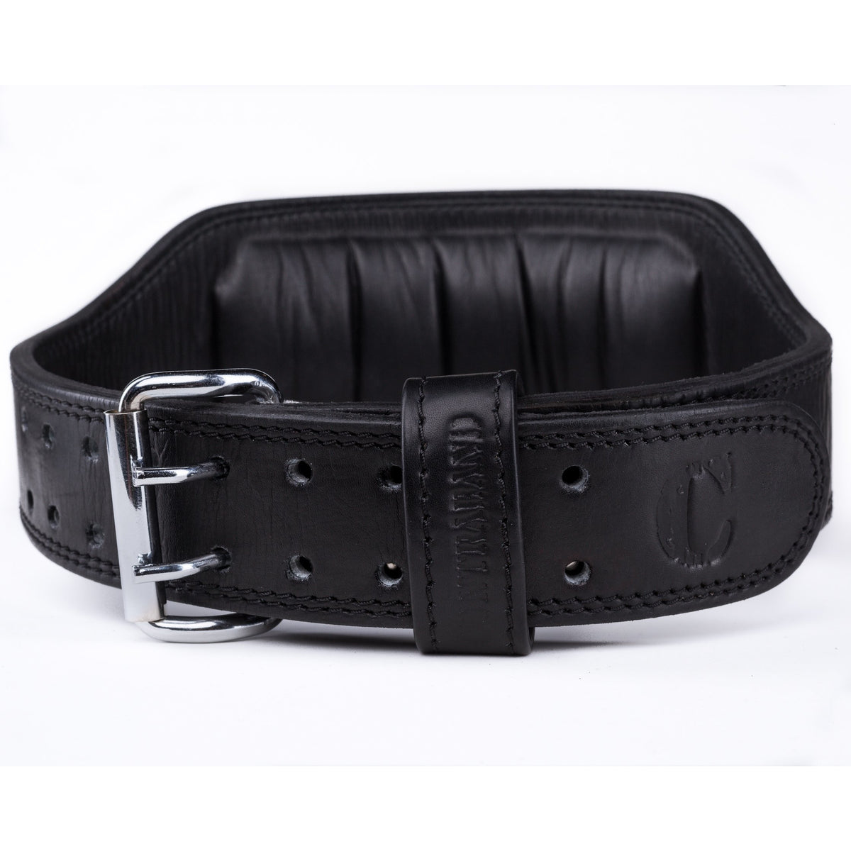 Contraband Black Label 4360 6in Top Grain Padded Leather Belt