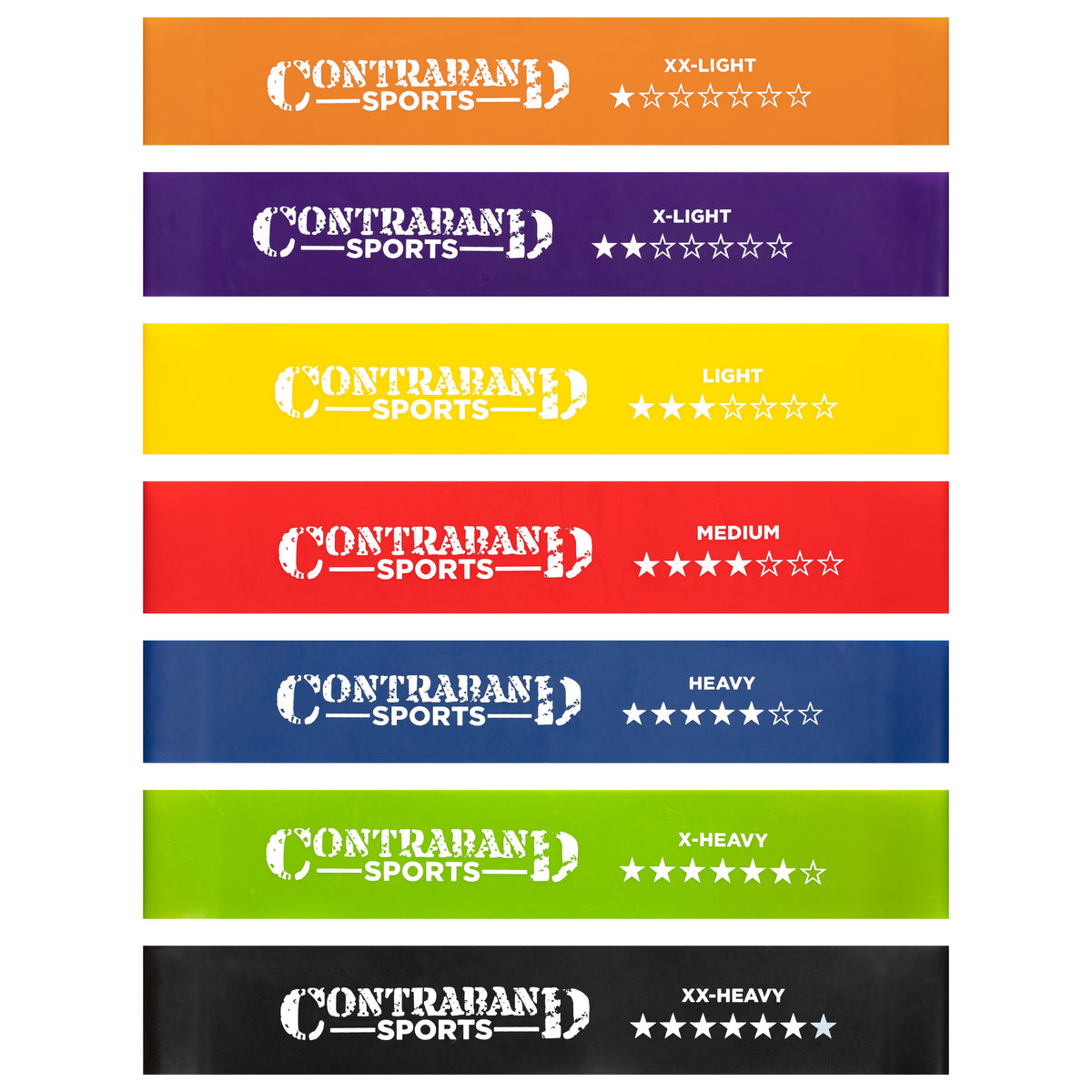 Contraband Sports 7439 Resistance Hip Bands/Booty Bands/Ankle Bands Set