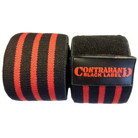 Contraband Black Label 1050 Knee Wraps w/ EZ-Wrap Velcro Closure (PAIR)