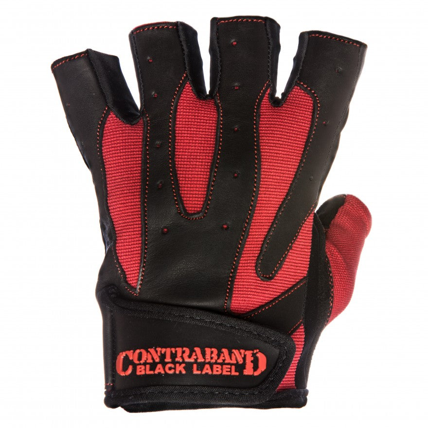 Contraband Black Label 5150 Pro Leather Lifting Gloves