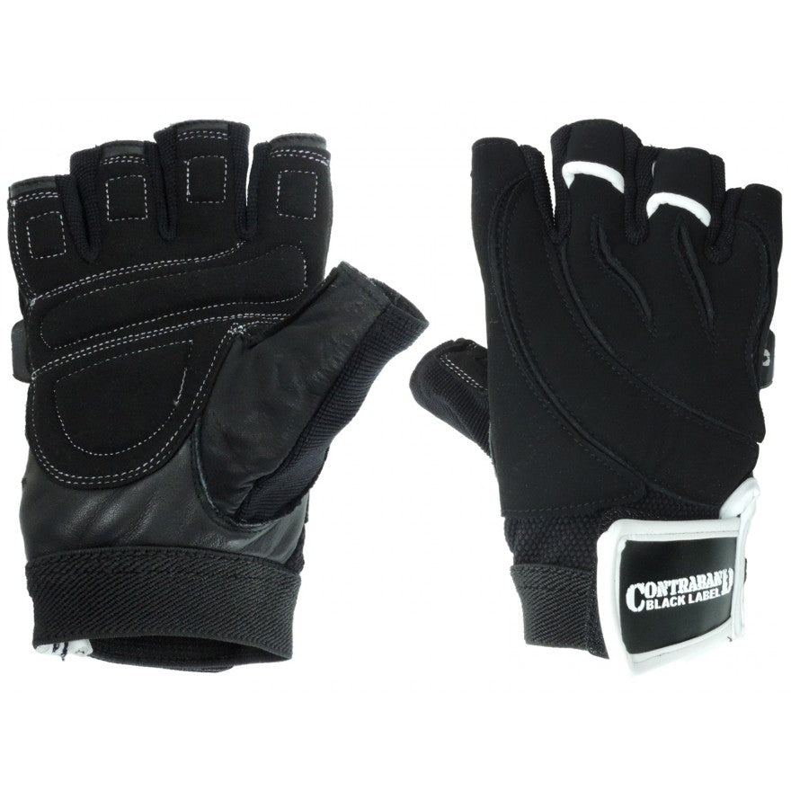 Contraband Black Label 5610 Classic Lifting Gloves w/ Quick Release Finger Loops
