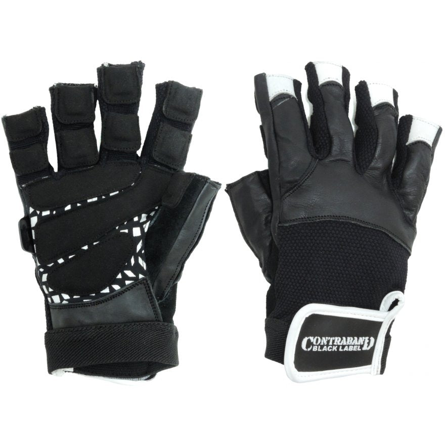 Contraband Black Label 5830 Premium Leather Weight Lifting Gloves w/ Super Grip Pads
