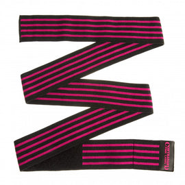 Contraband Pink Label 1057 Knee Wraps with 3in EZ-Wrap Hook & Loop