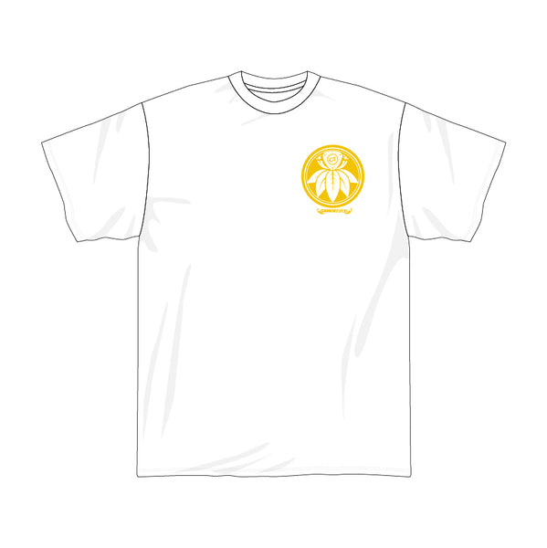 FD Yellow Flower White Tee