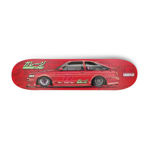 Red AE86 Skate Deck