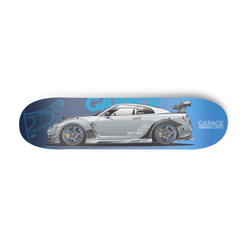 Grey R35 Skyline Skate Deck