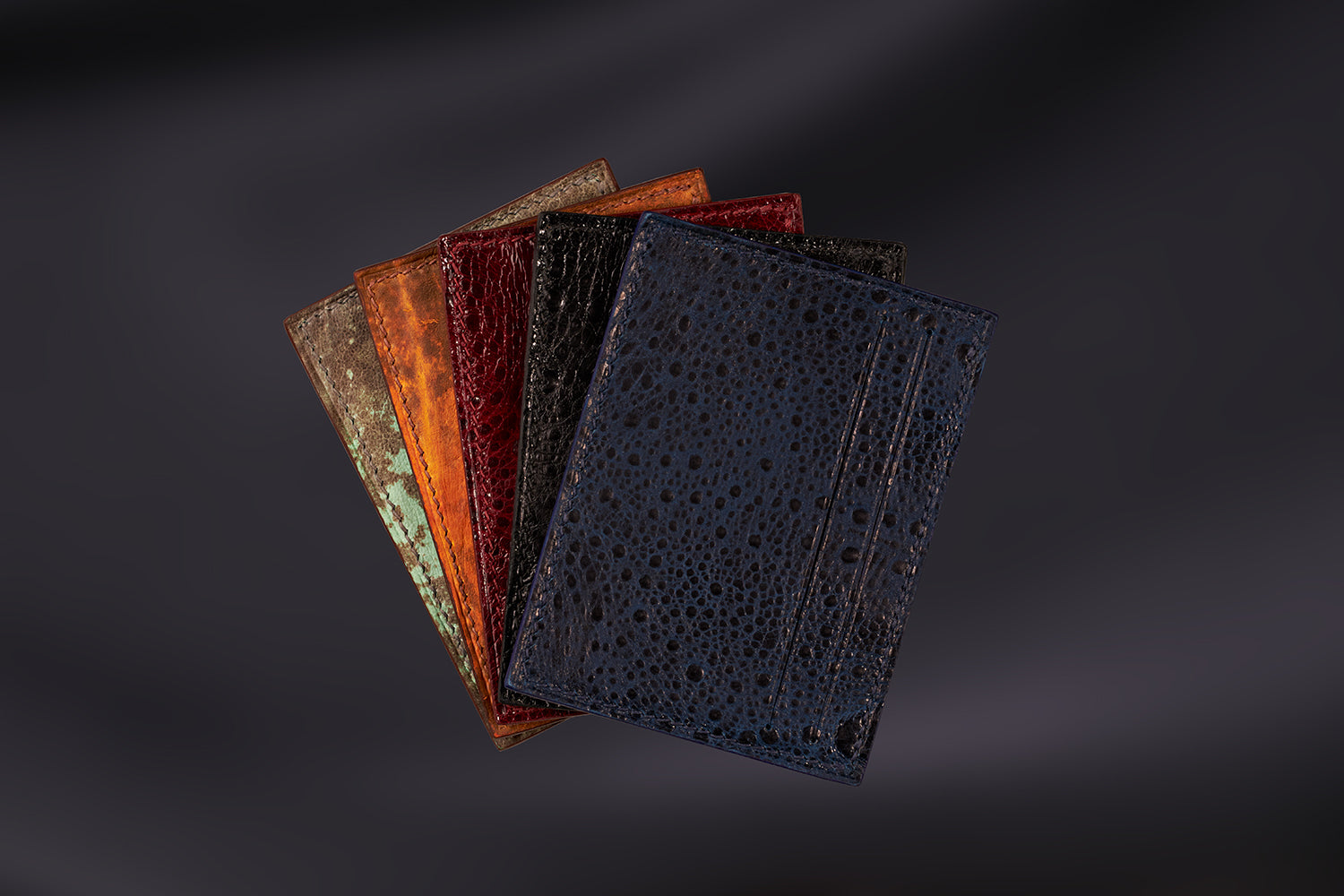 The Purple Seal limited edition leather and silk card holders