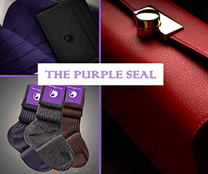 The Purple Seal elegant socks and leathergoods - bespoke, made to order, made to measure