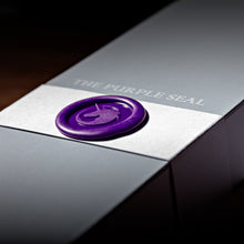 Load image into Gallery viewer, The Purple Seal luxury socks box for worldwide shipping. Made in Italy, made to measure, craftsmanship. Comfort and style for the classic gentleman