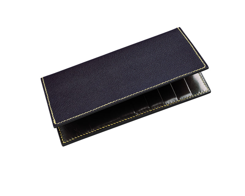 Bruma - Deep Royal Purple - Custom Leather Coat Wallet