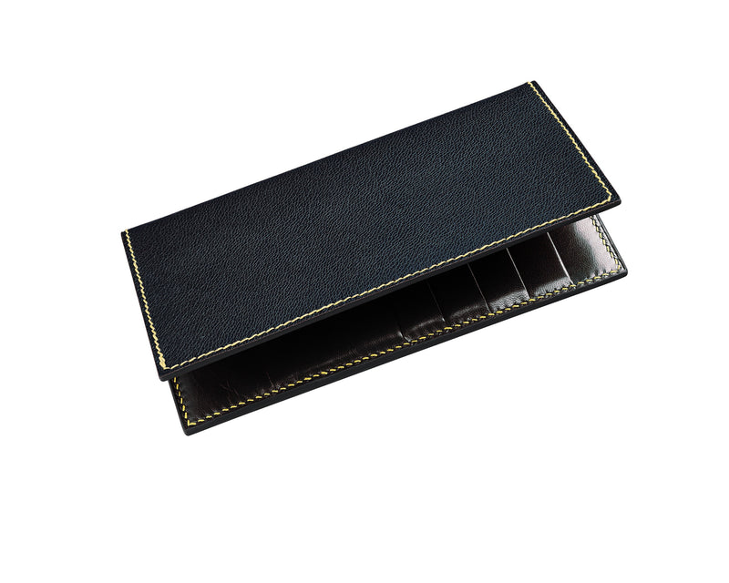 Bruma - Navy - Custom Leather Coat Wallet
