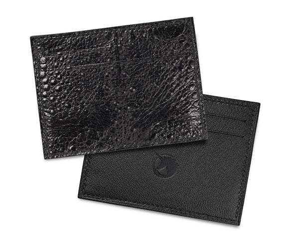 Limited Edition - Crapaud Noir Leather card holder