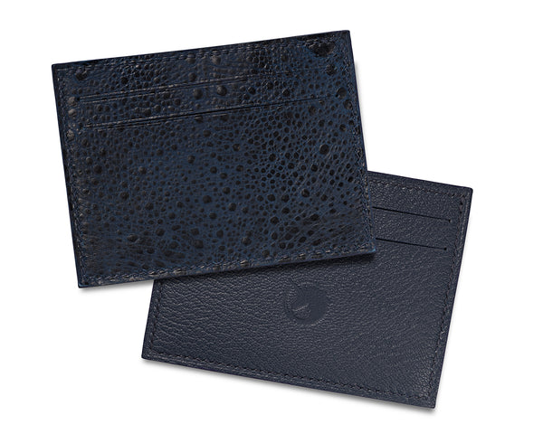 Limited Edition - Crapaud Bleu Leather card holder